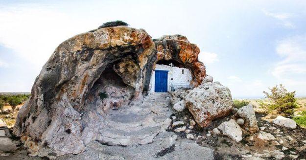 Agioi Saranta, Protaras, Cyprus exterior   17 Astonishingly Beautiful Cave Churches Around The World   Brain Berries
