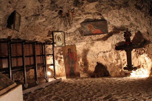 Monastery of the Temptation, West Bank city of Jericho   17 Astonishingly Beautiful Cave Churches Around The World   Brain Berries