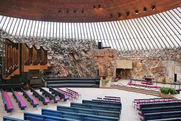 Temppeliaukio Church, Helsinki   17 Astonishingly Beautiful Cave Churches Around The World   Brain Berries
