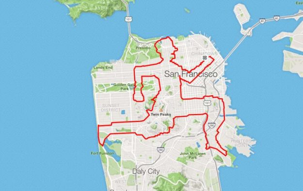 runner Lenny Maughan The Running Man | San-Francisco Runner Creates Art Just By Jogging Around | Brain Berries