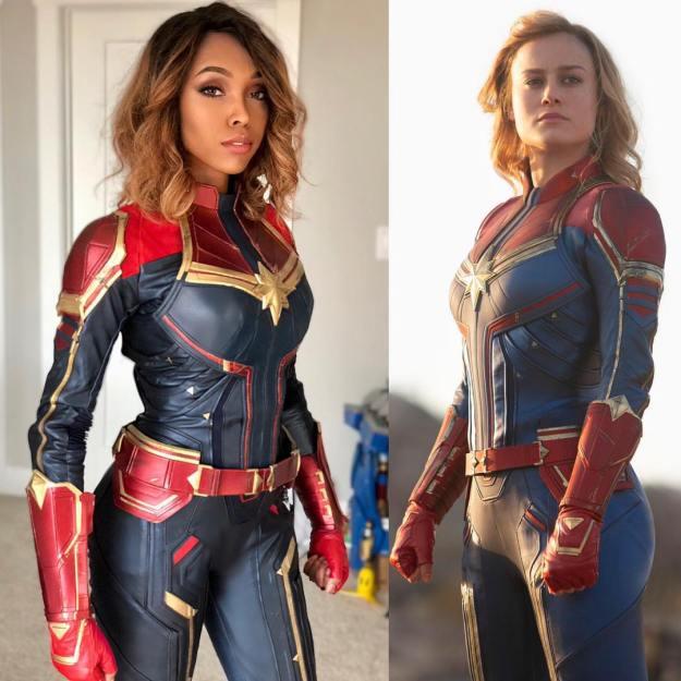 Captain Marvel   15 Astounding Cosplay Transformations of CutiePieSensei   Brain Berries