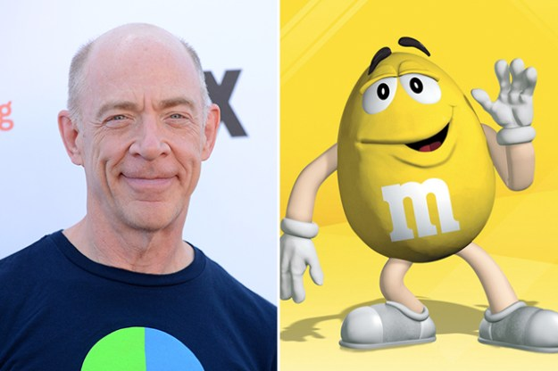 J.K. Simmons – The Yellow M&M  | 21 Celebrities Who Voiced Your Favorite Cartoon Characters | Brain Berries