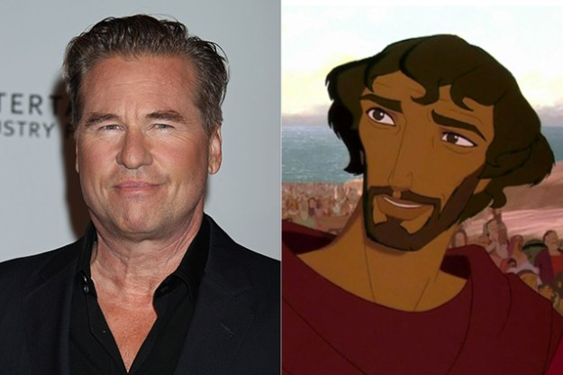 Val Kilmer – Moses in The Prince of Egypt  | 21 Celebrities Who Voiced Your Favorite Cartoon Characters | Brain Berries