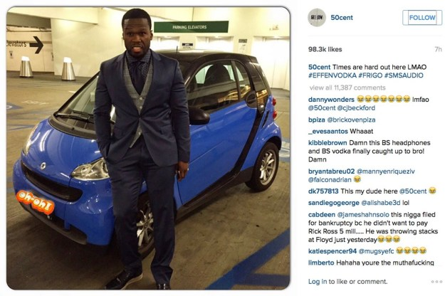 50 Cent | 7 Famous People Who Were Willing To Laugh at Themselves | BrainBerries
