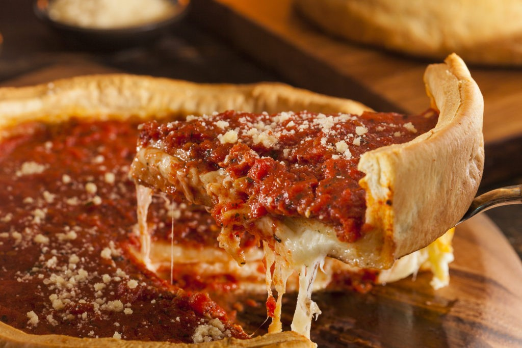 Chicago Deep Dish Pizza  | 10 Foods That Are Guaranteed To Make You Happy | Brain Berries