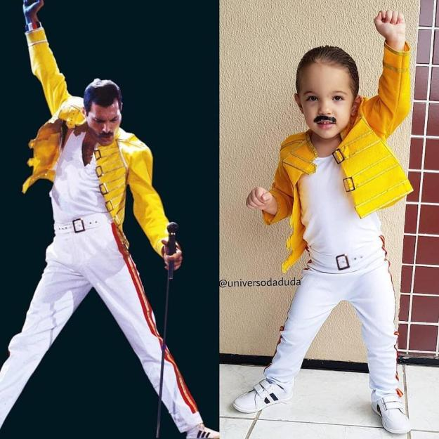 Freddie Mercury cosplay | The Youngest Cosplayer You'll Be Jealous Of | Brain Berries
