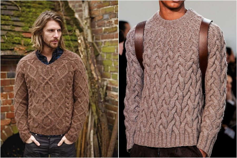 Men Cable Knit Sweater