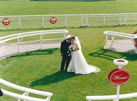 1. At the horse racetrack | Top 9 Most Bizarre Places to Get Married | Brain Berries