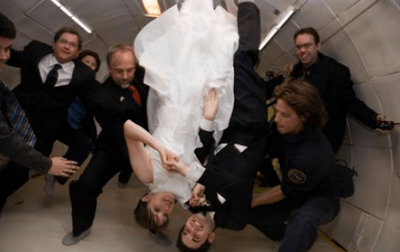 2. In zero gravity | Top 9 Most Bizarre Places to Get Married | Brain Berries