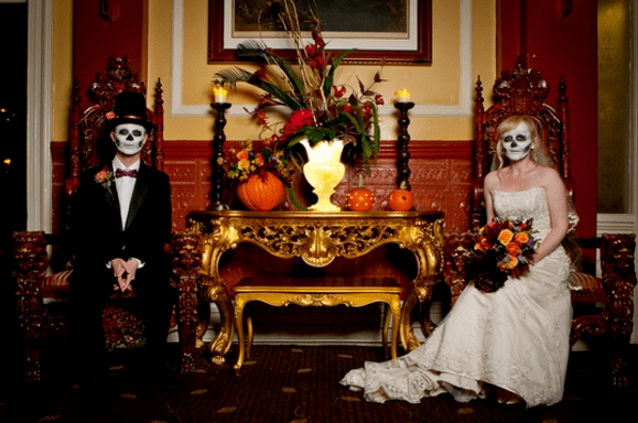 7. In a haunted house | Top 9 Most Bizarre Places to Get Married | Brain Berries