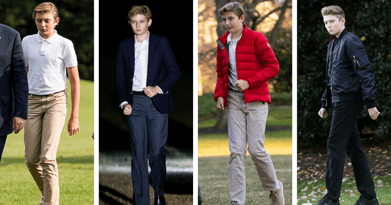 5. He doesn't like to wear sweatpants | 10 Curious Little-Known Facts About Barron Trump | Brain Berries
