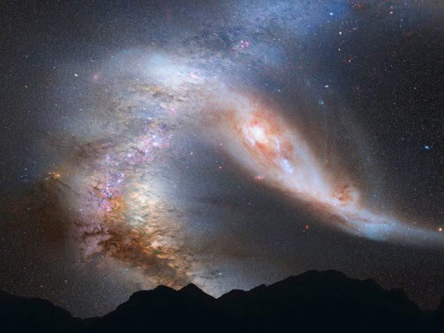 المجرة القاتلة |  ستصطدم درب التبانة مع مجرة مجاورة ، وهذا أمر لا مفر منه |  زيسترادار