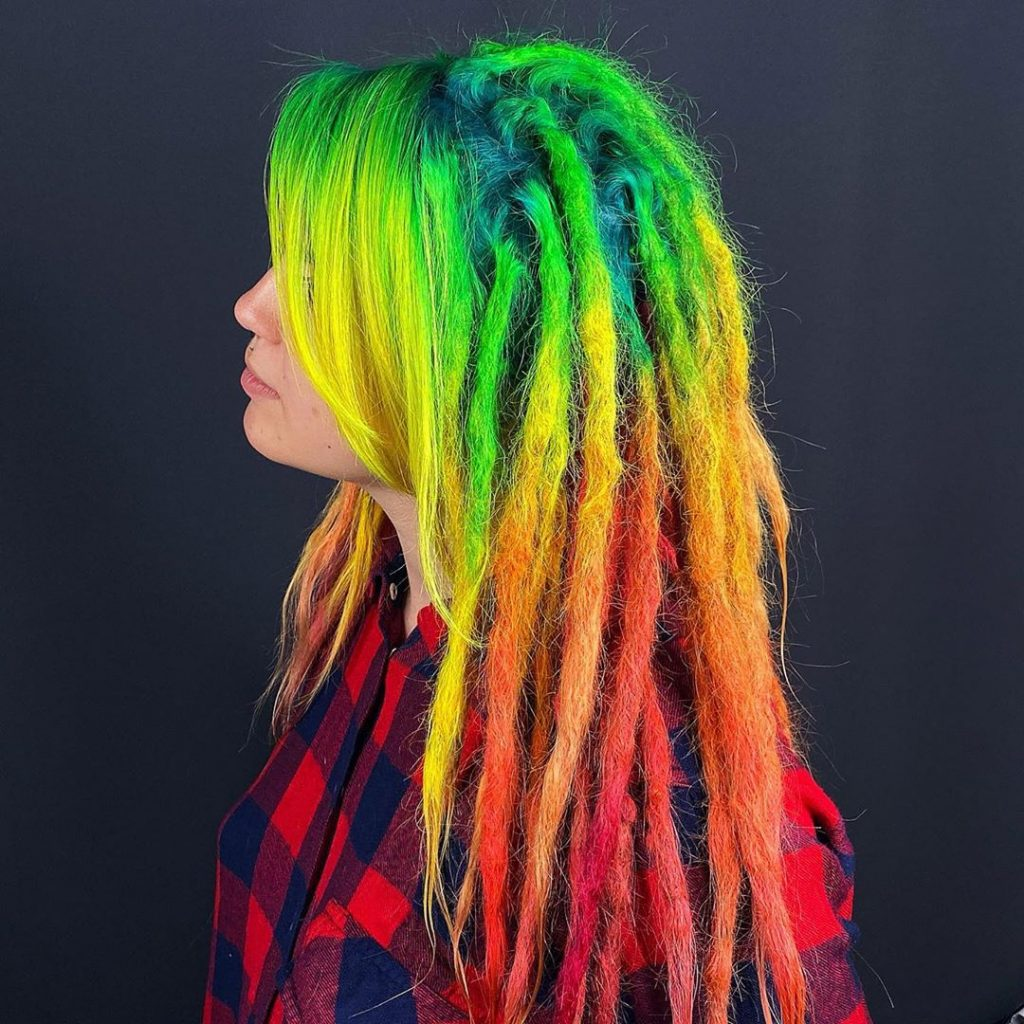 Super-Expressive Rainbow Hairstyles By Snegga #3 | Brain Berries