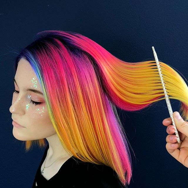 Super-Expressive Rainbow Hairstyles By Snegga #7 | Brain Berries