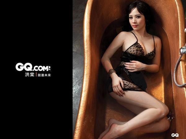 洪棠 - 甜美校花美女助理主持爆乳裝露點照瘋傳、FHM火辣爆表美胸上空登封面、性感肉感女神尤物爆紅MV全裸入鏡