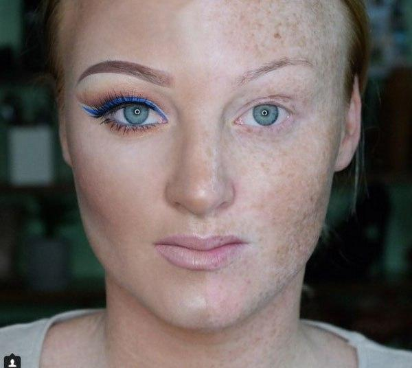 Half Face Makeup Challenge 3
