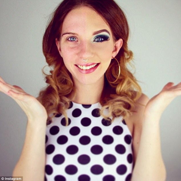 Half Face Makeup Challenge 4