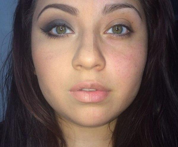 Half Face Makeup Challenge 6