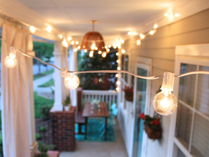 String Lights DIY Decorating Ideas 2