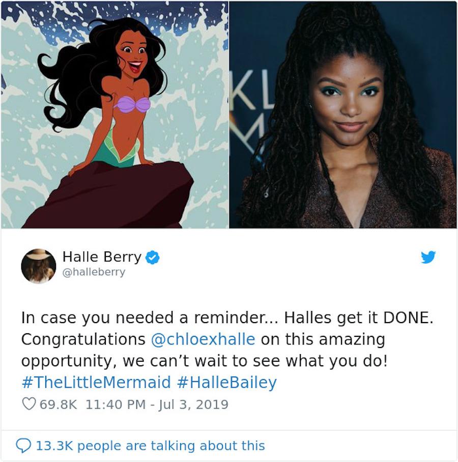 Halle Bailey as Little Mermaid | Halle's reaction | HerBeauty