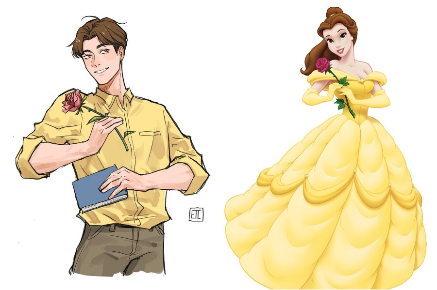 Belle | If Disney Princesses Were Boys | Her Beauty