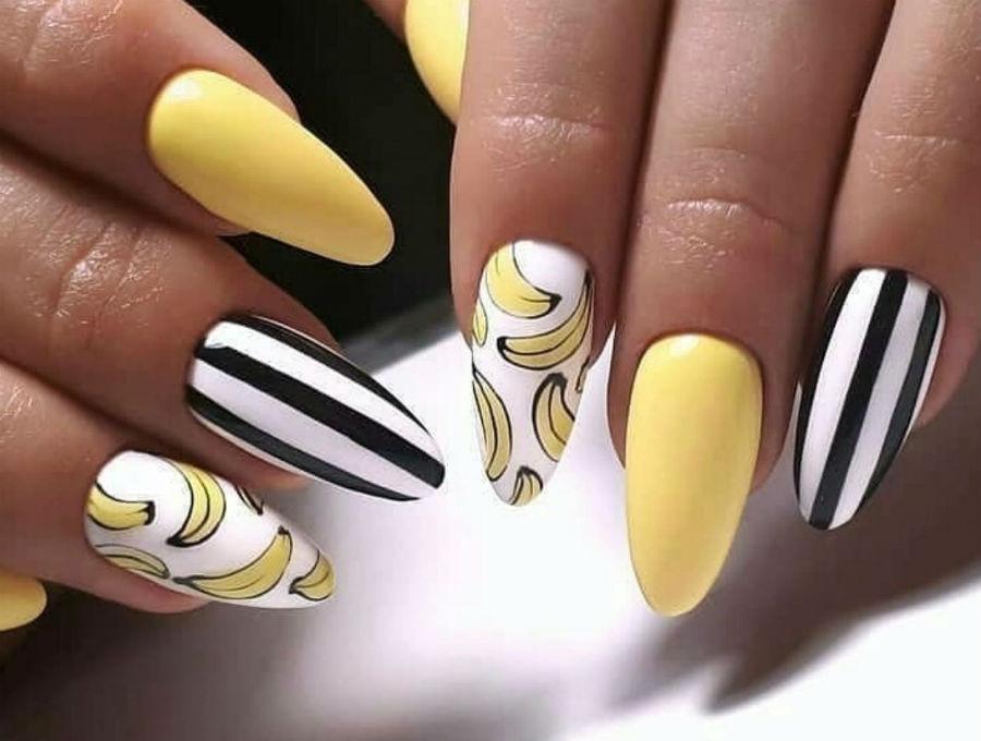 Банан | Фруктовый тренд: сочные идеи для летнего маникюра | Her Beauty