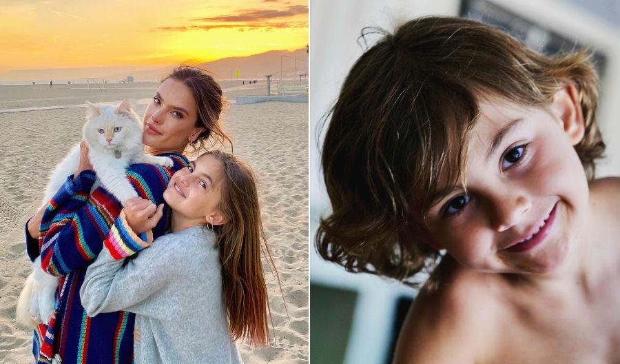 Алессандра Амбросио с дочкой Аней и сыном Ноа | Her Beauty