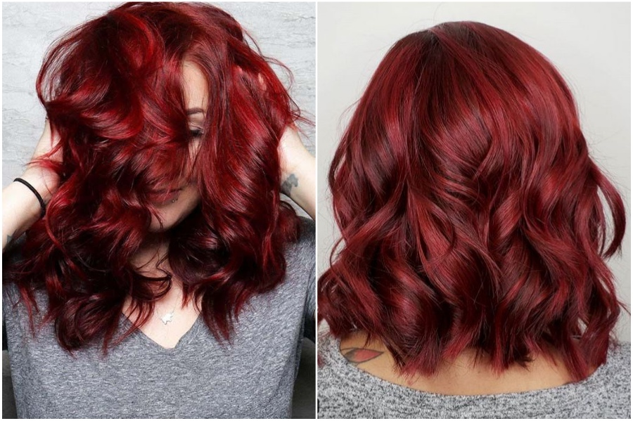 Crimson | 15 Trendy Red Hair Ideas To Try | Her Beauty