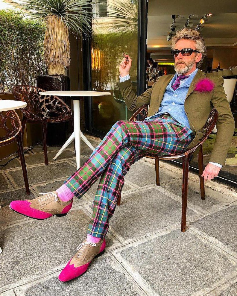 Pierrick Mathon pants and  hot pink feather | 12 Classiest Yet Fun OOTD You've Ever Seen From Pierrick Mathon | Her Beauty