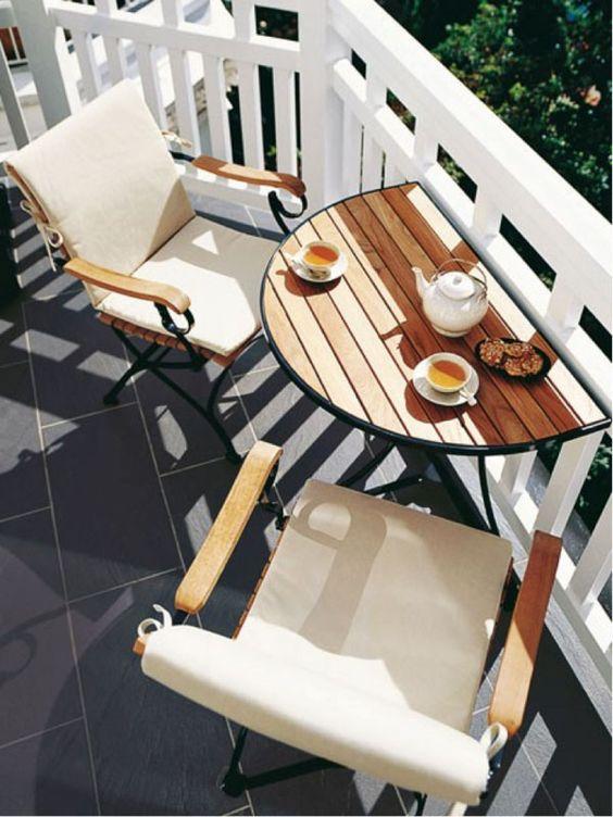 Elevated table Balcony #2 | 10 Cozy Balcony Ideas | Her Beauty