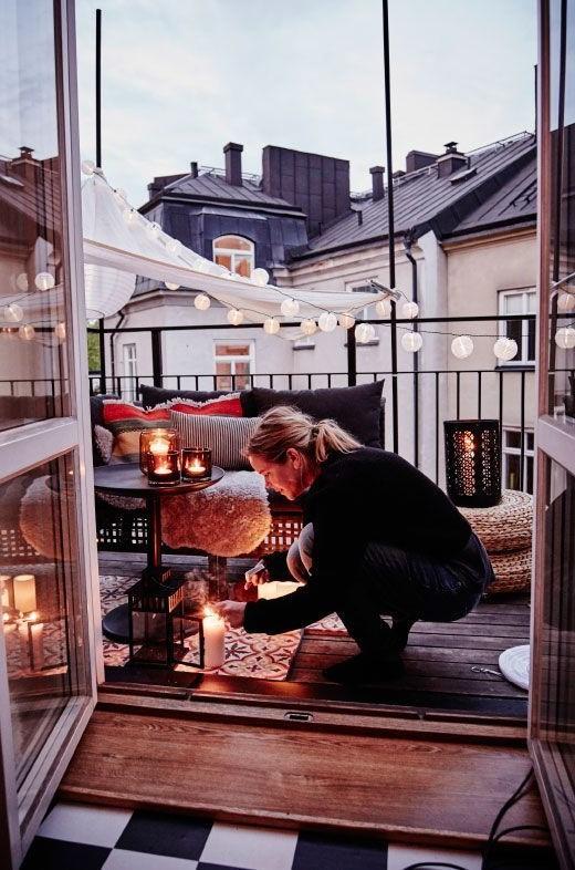Touch of light Balcony | 10 Cozy Balcony Ideas | Her Beauty
