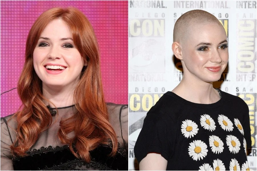 Karen Gillan | 15 Stars That Shaved Their Head And Rocked It | Her Beauty