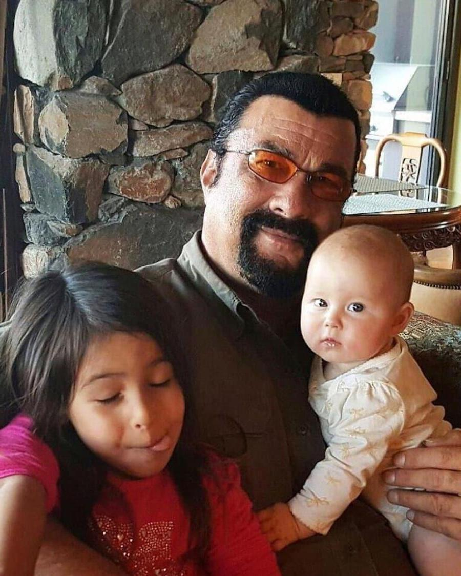 Steven Seagal | 12 Celebrity Grandpas With Their Grandchildren Will Melt Your Heart | Her Beauty