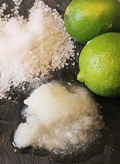Lime and coconut salt scrub | 10 DIY Homemade Sea Salt Scrubs Recipes | Her Beauty