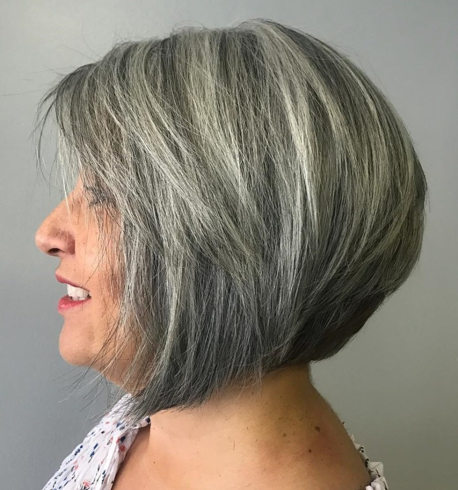 Rounded bob/lob with stacked nape   Short Hairstyles For Women Over 50   Her Beauty