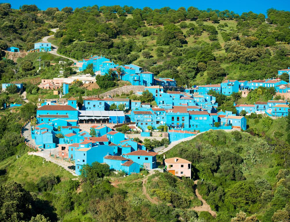 spain blue city