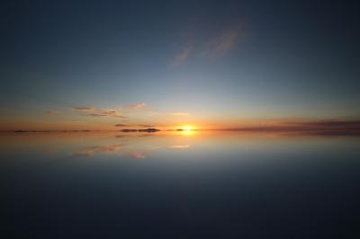 ウユニの夕日