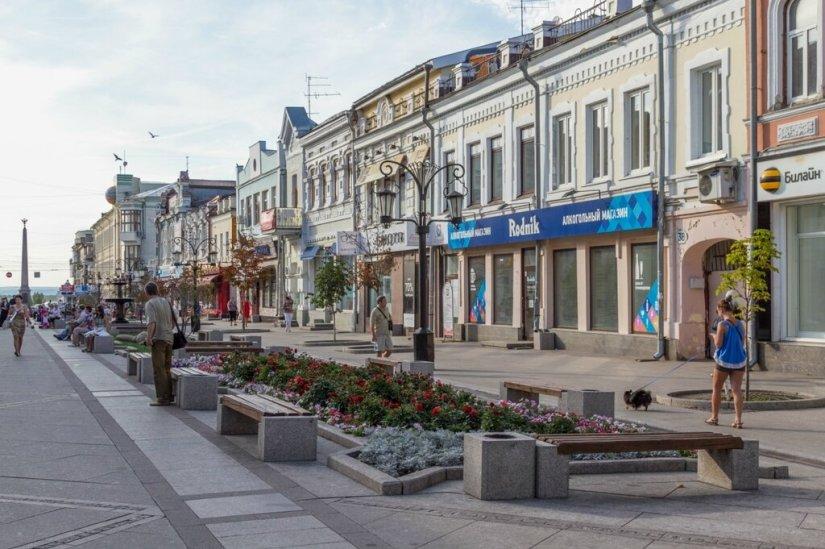 Старинные здания на Ленинградской улице