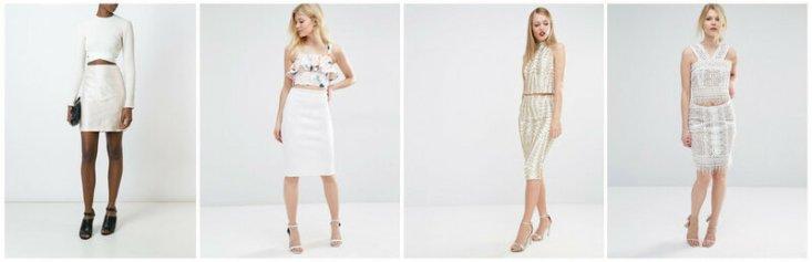 Топ ROMEO GIGLI VINTAGE; комплект New Look Petite; комплект TFNC; топ и юбка True Decadence Petite.