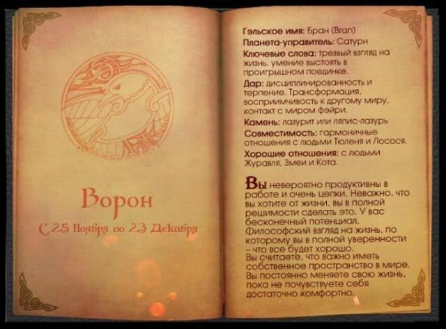 Кельтский гороскоп животных: страницы древней книги