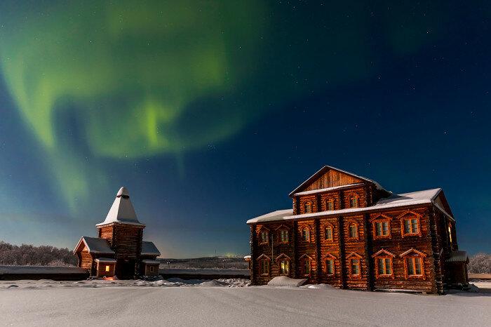 Красота северного сияния. Автор фотографии: Кирилл Уютнов.