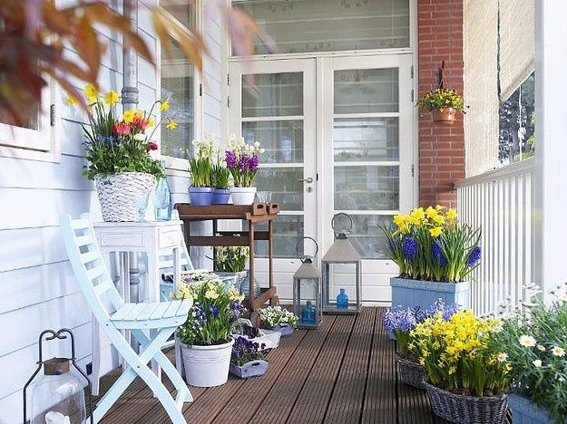Балконы, террасы и веранды   интересные и красивые идеи