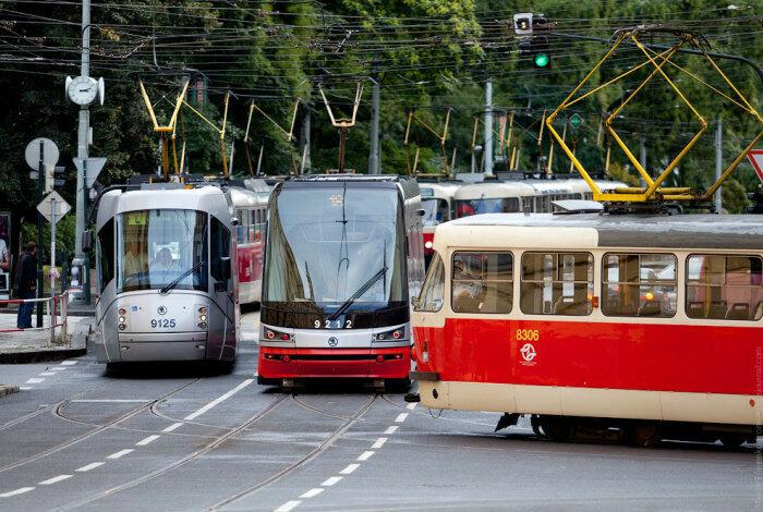 Трамвайная пробка