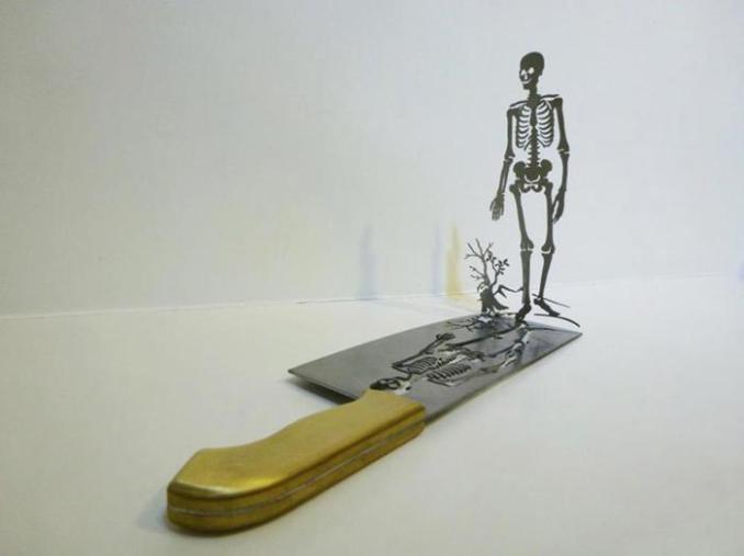 Как сделать скульптуры на лезвии ножа