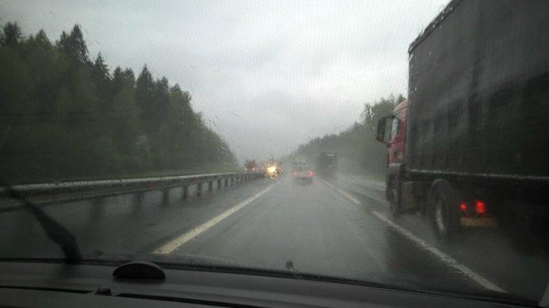 Дождь, трасса