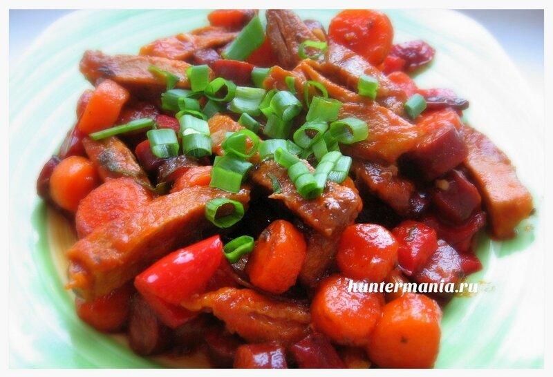 Свинина с овощами в мультиварке (рецепт)