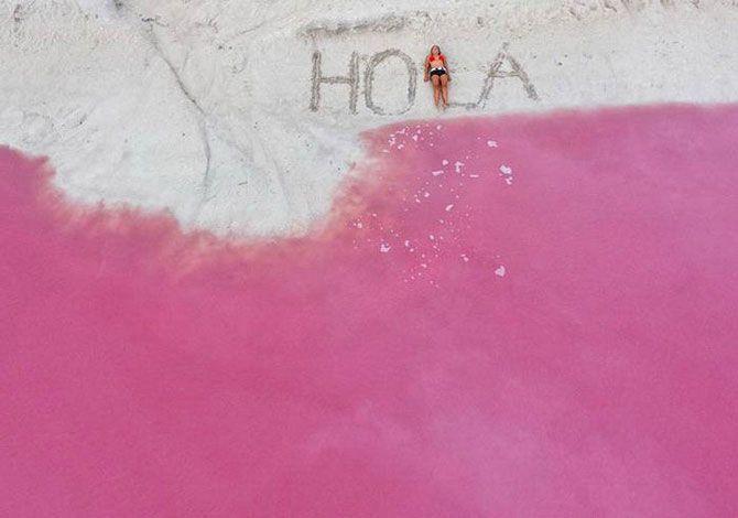 Моря, реки и озера розового и других необычных цветов
