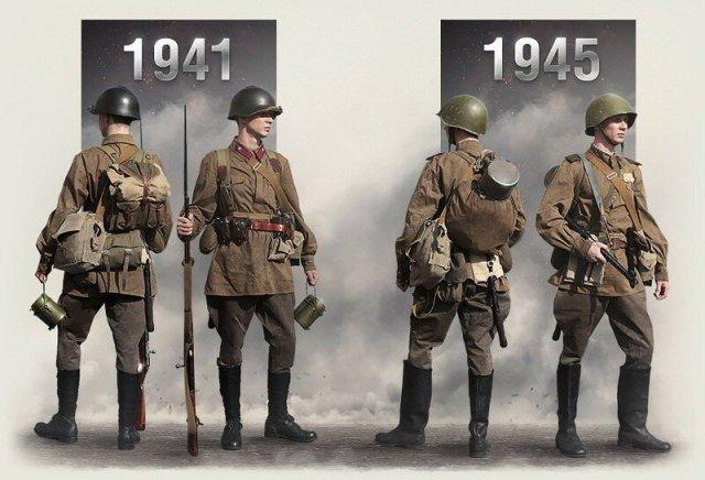 Как поменялась экипировка советского солдата в 1941 1945 годах