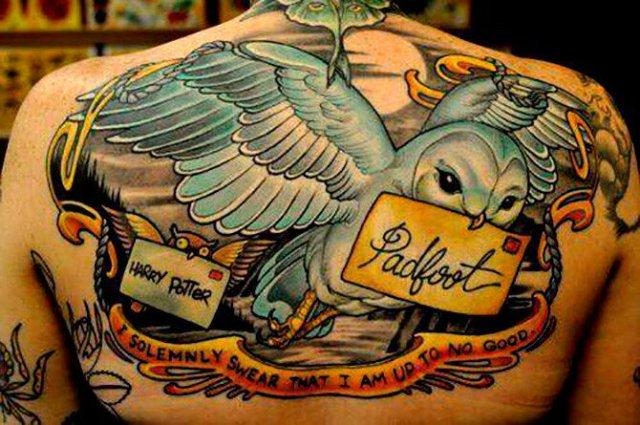 Татуировки фанатов Гарри Поттера (105 картинок)