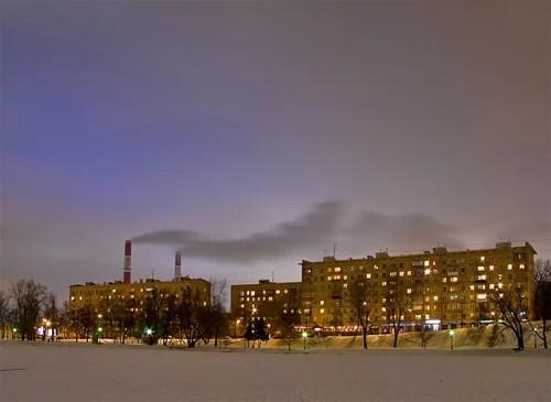 вечернее небо Москвы